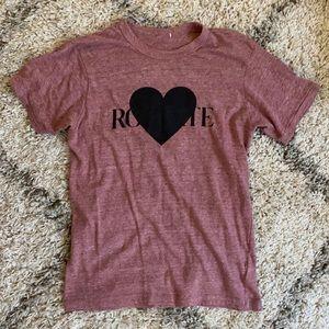 RADARTE (Rodarte) Heart Brick Heather Tee - Medium